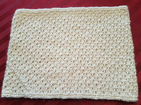 AC70 Custom designed shell stitch Alpaca cowl - Country Gables Ltd