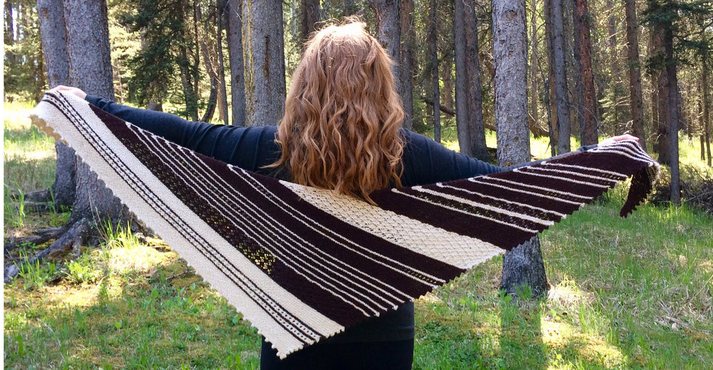 Becky's Shawl with Country Gables Alpaca yarn