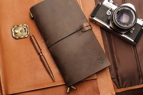 leather notebook journal refillable