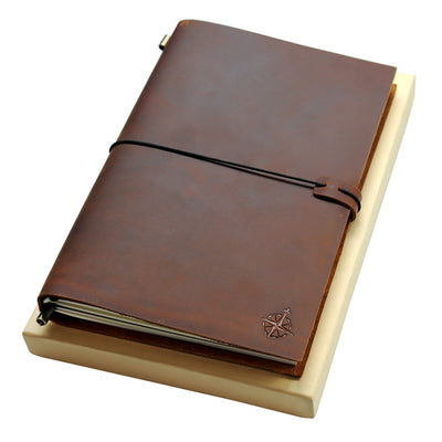 *NEW* Large Leather Journal - Wanderings