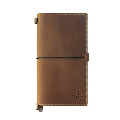 Leather Notebook with Pockets