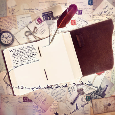 Leather Bound Travel Journal - Wanderings