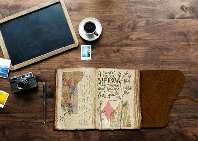 Small Vintage Leather Journal - Only 4x6""