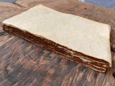 Handmade Antique Deckle Edge Blank Paper - Package of 50