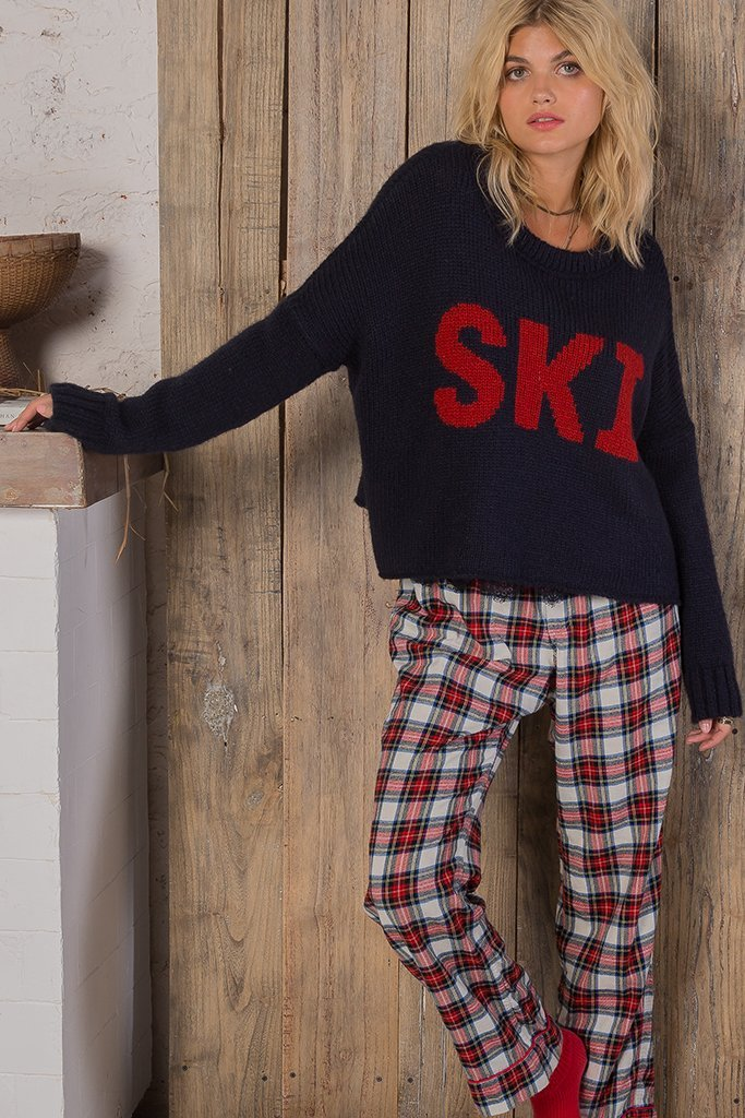 Women's Ski Slouchy Crop Top Sweater's | Wooden Ships Knits