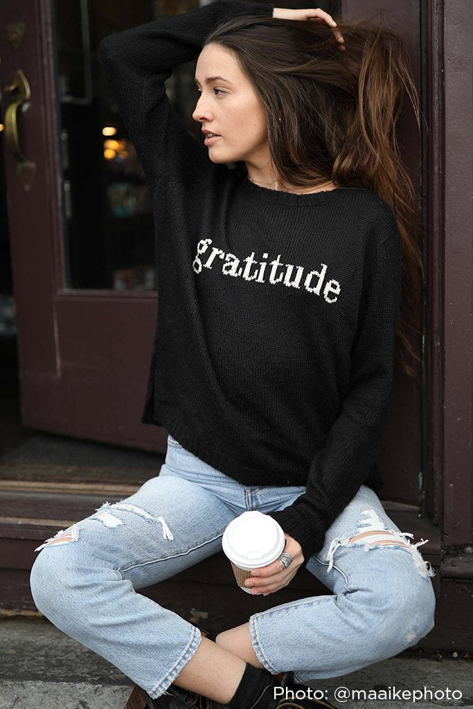 Women's Gratitude Crewneck Sweater's | Wooden Ships Knits