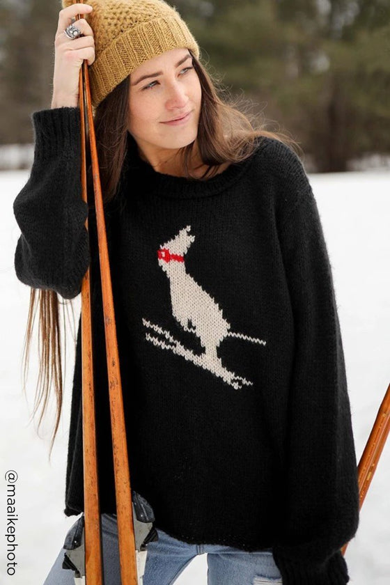 Women's Ski Bunny Cropped Crew Sweater's | Wooden Ships Knits