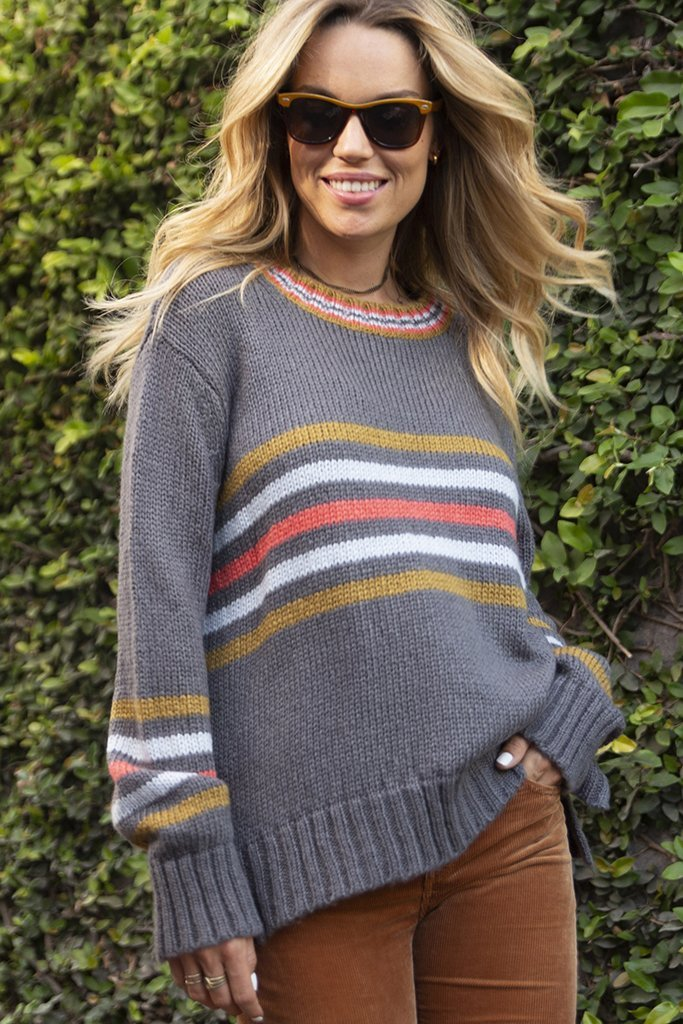 Women's Cameron Stripe Crewneck Sweater's | Wooden Ships Knits
