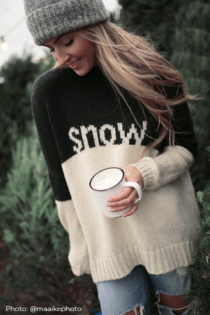 Women's Snow Pullover Sweater's | Wooden Ships Knits