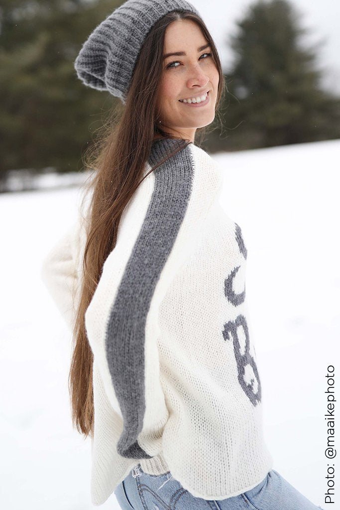 Women's Retro Ski Bum Crew Sweater's | Wooden Ships Knits