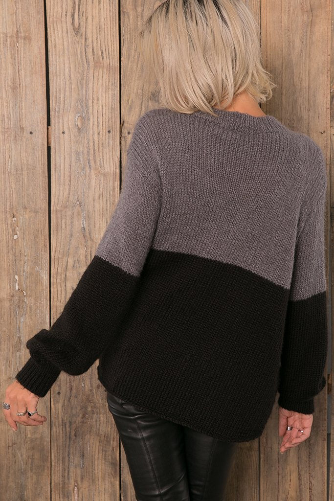 Women's Ski Colorblock Crew Sweater's | Wooden Ships Knits