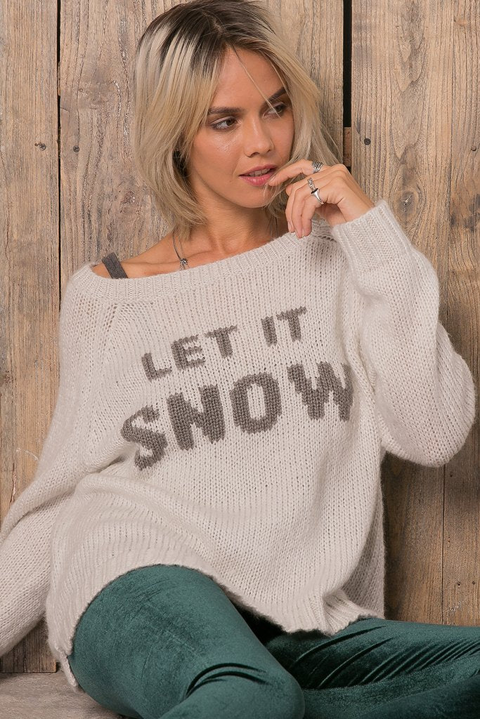 Women's Let It Snow Crew Sweater's | Wooden Ships Knits