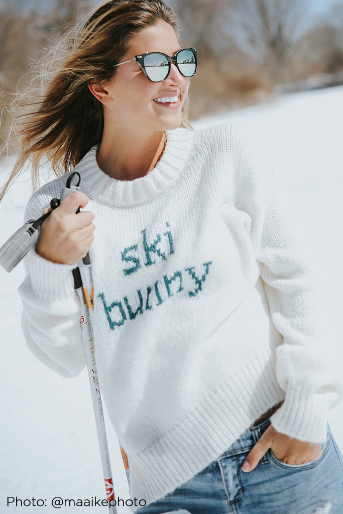 Women's Vintage Ski Bunny Crew Sweater's | Wooden Ships Knits