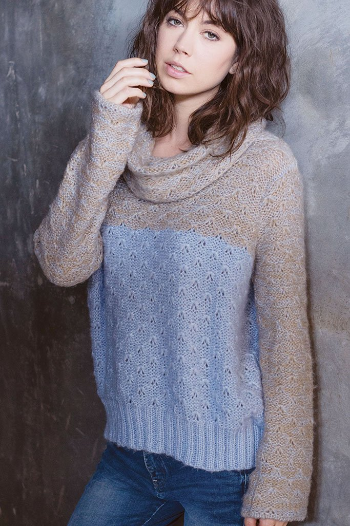 Women's Landon Cowl Turtleneck Sweater | Wooden Ships Knits