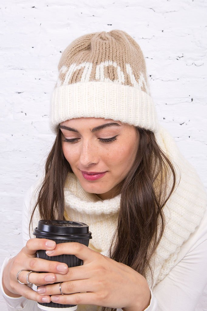 Women's Snow Beanie Hat | Wooden Ships Knits