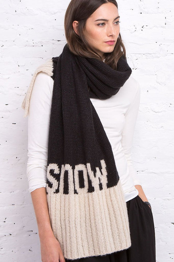 Women's Snow Wrap Scarf | Wooden Ships Knits