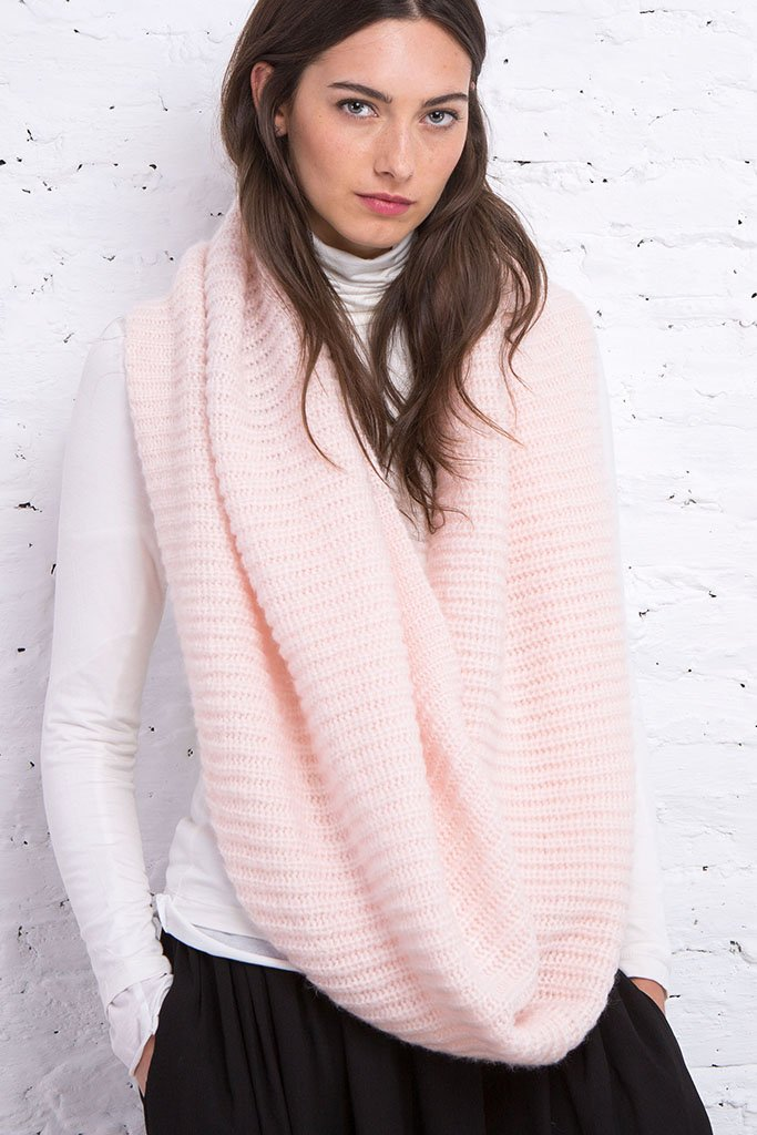 Women's Urban Chunky Rib Eternity Scarf | Wooden Ships Knits