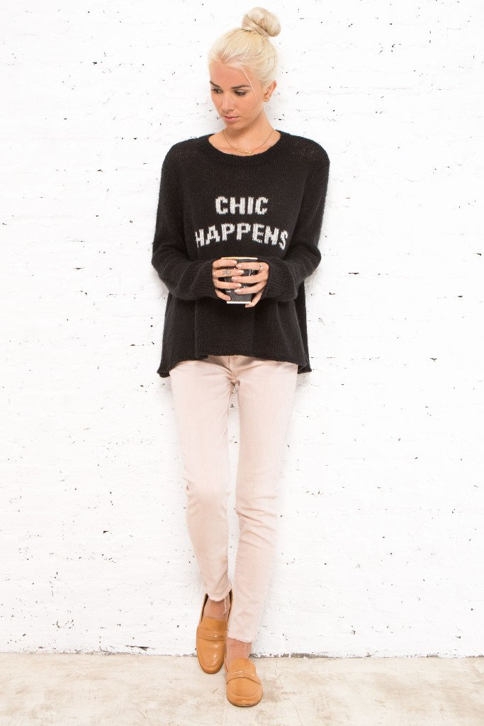 Women's Chic Happens Crewneck Pullover Sweater | Wooden Ships Knits