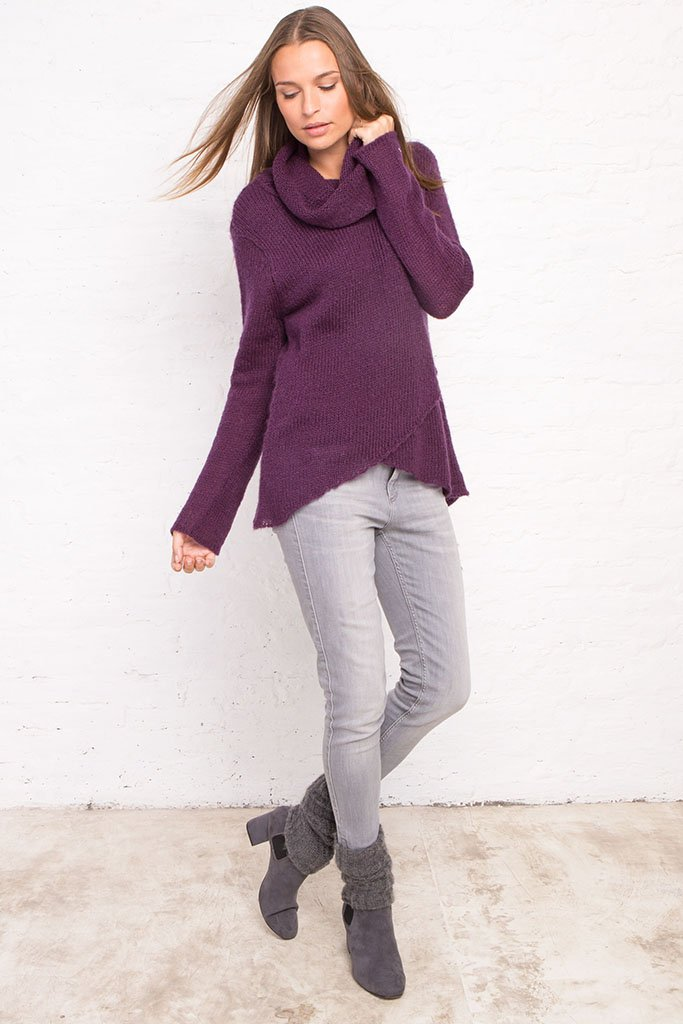 CLARE COWL NECK TOP