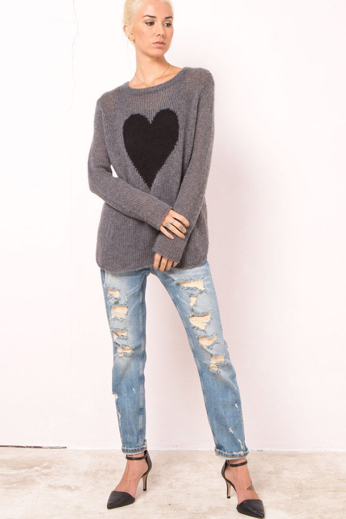Women's Heart Crewneck Sweater's | Wooden Ships Knits