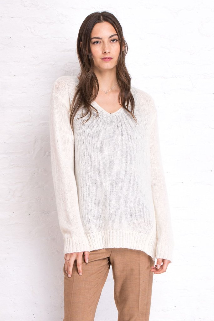Women's Seryn V-Neck Lightweight Pullover Sweater | Wooden Ships Knits