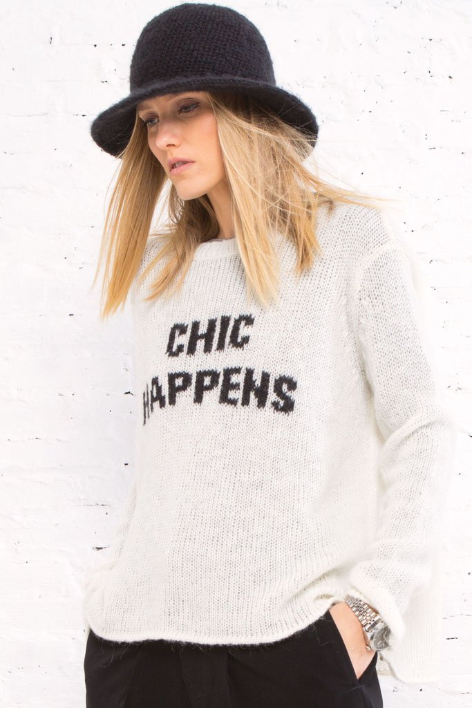 Women's Chic Happens Lightweight Sweater | Wooden Ships Knits