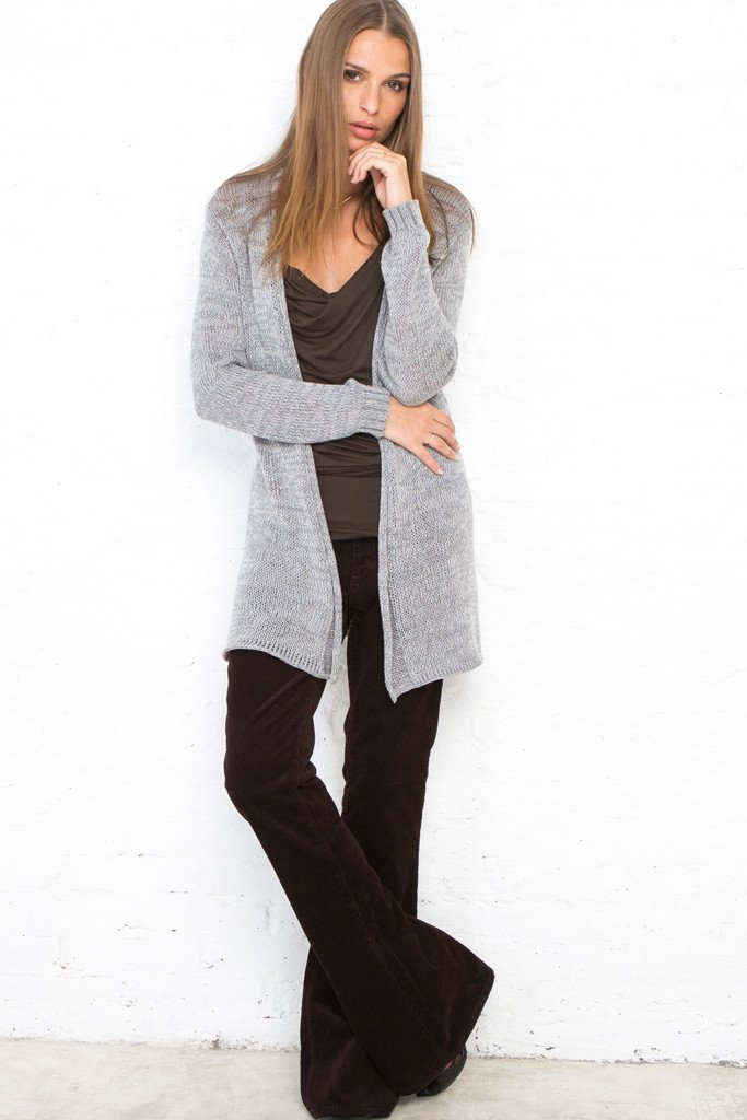 HEATHERED CARDIGAN COTTON