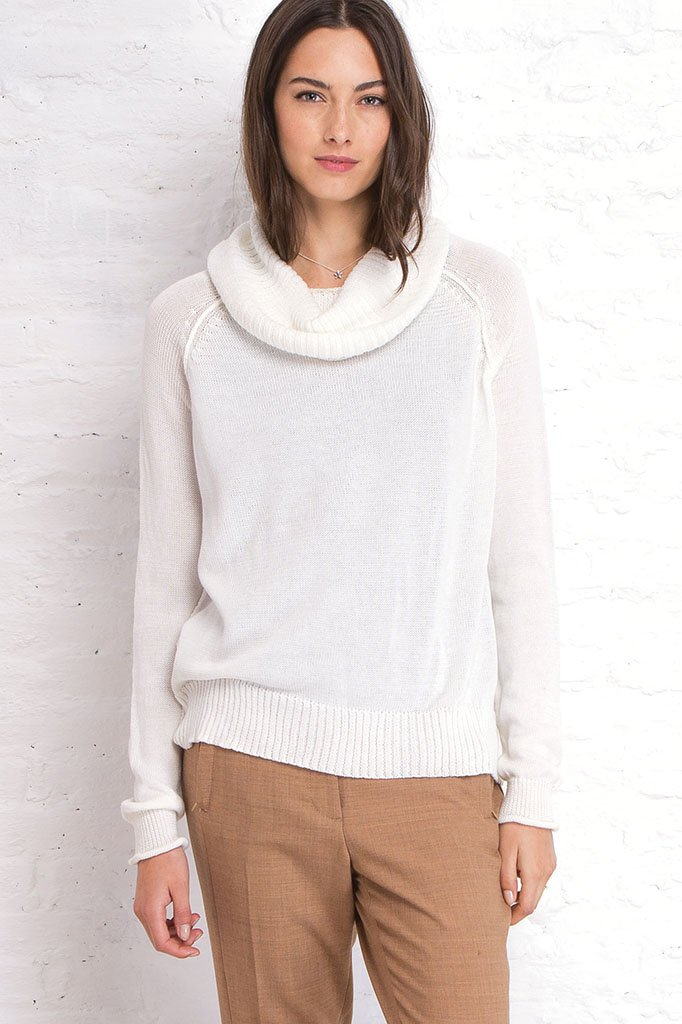 ROLLED CUFF COWL COTTON MERCER