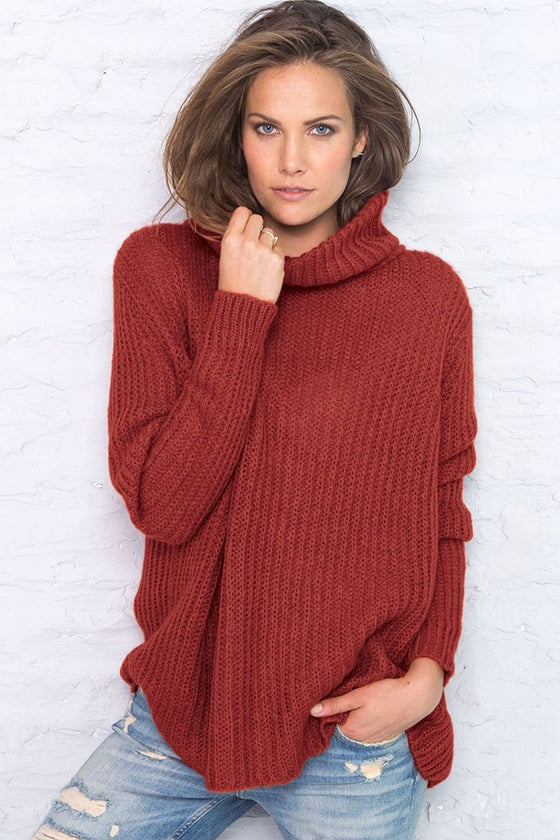 Women's Bailey Ribbed Turtleneck Sweater | Wooden Ships Knits