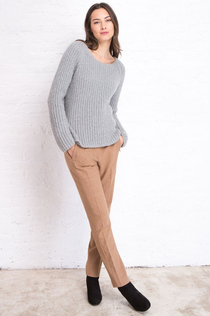 Women's Chunky Ribbed Crew Pullover Sweater | Wooden Ships Knits