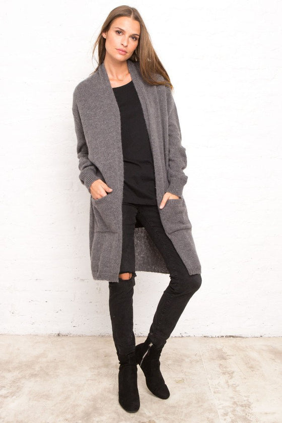 Women's Devon Pocket Long Cardigan Sweater | Wooden Ships Knits