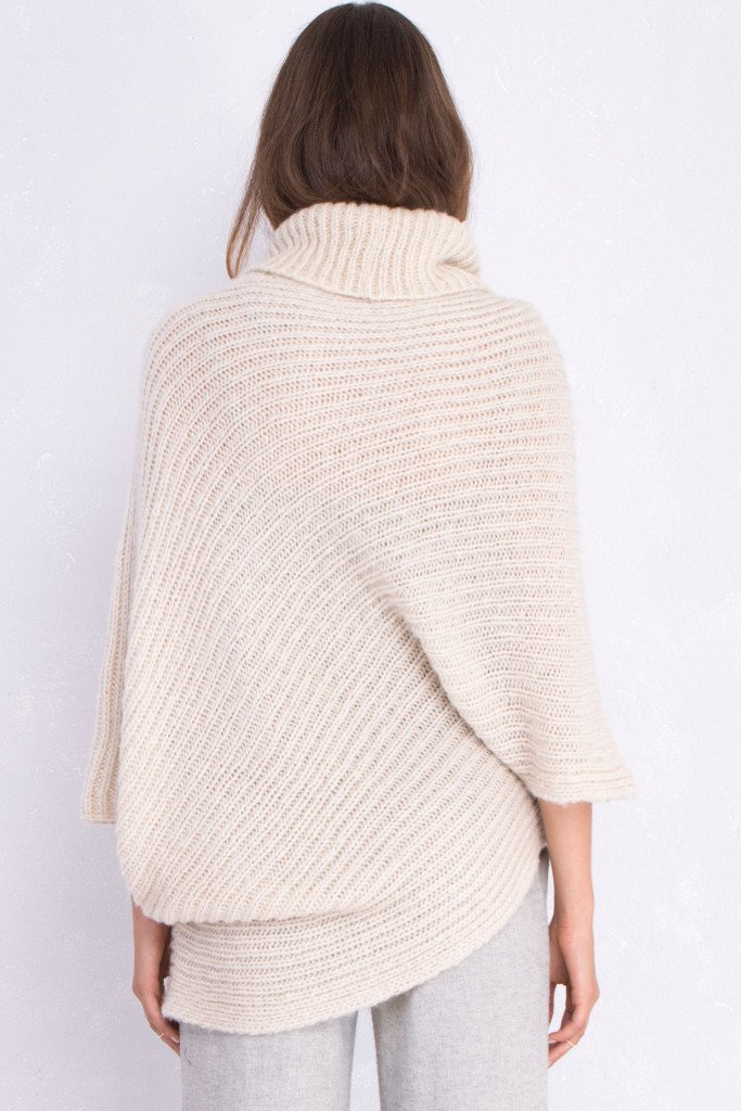 Women's Ribbed Asymmetrical Top Sweater | Wooden Ships Knits