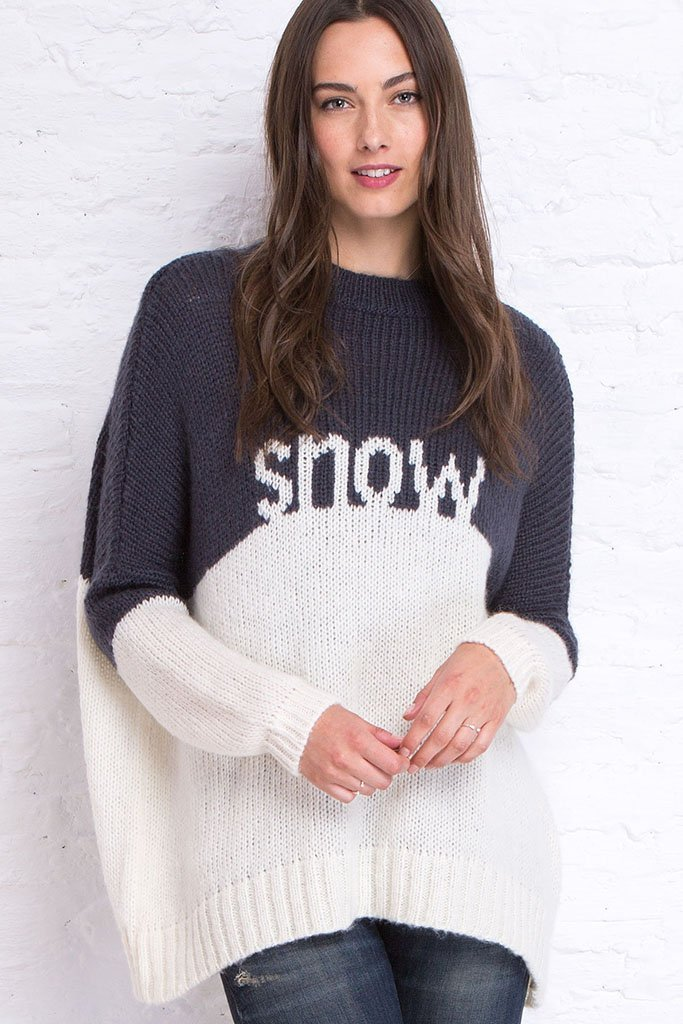 Women's Snow Pullover Sweater | Wooden Ships Knits