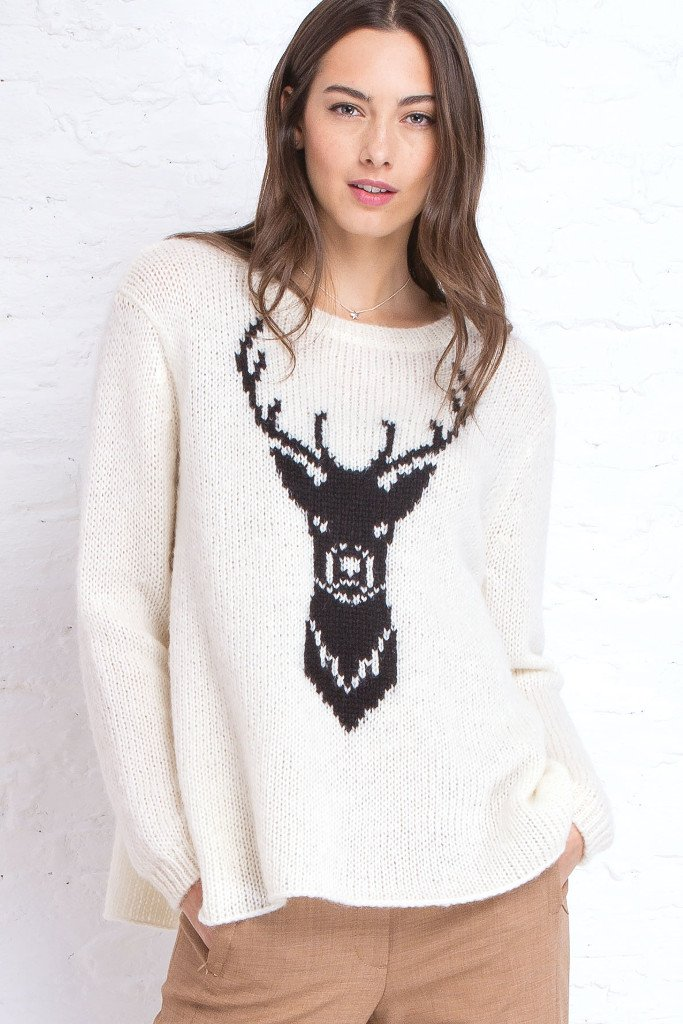 Women's Buck Crewneck Sweater | Wooden Ships Knits