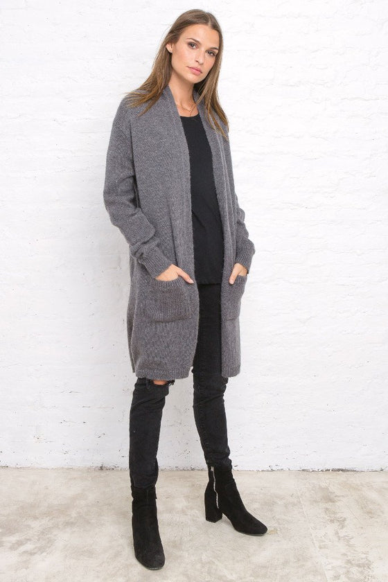 DEVON POCKET LONG CARDIGAN