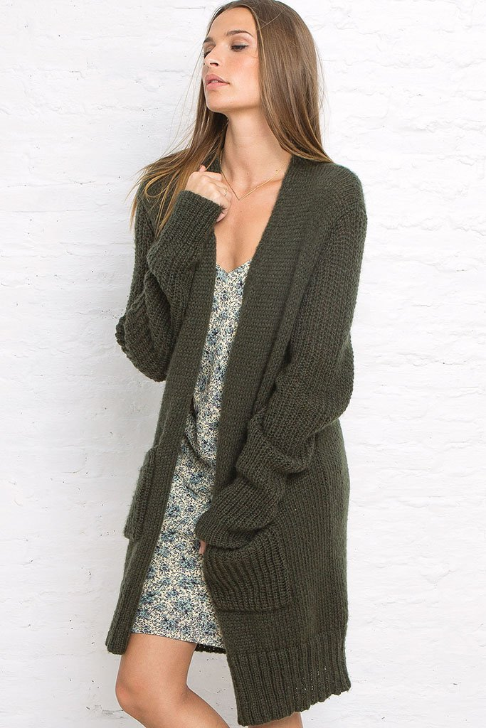 Women's Hudson Pocket Boyfriend Cardigan Sweater | Wooden Ships Knits