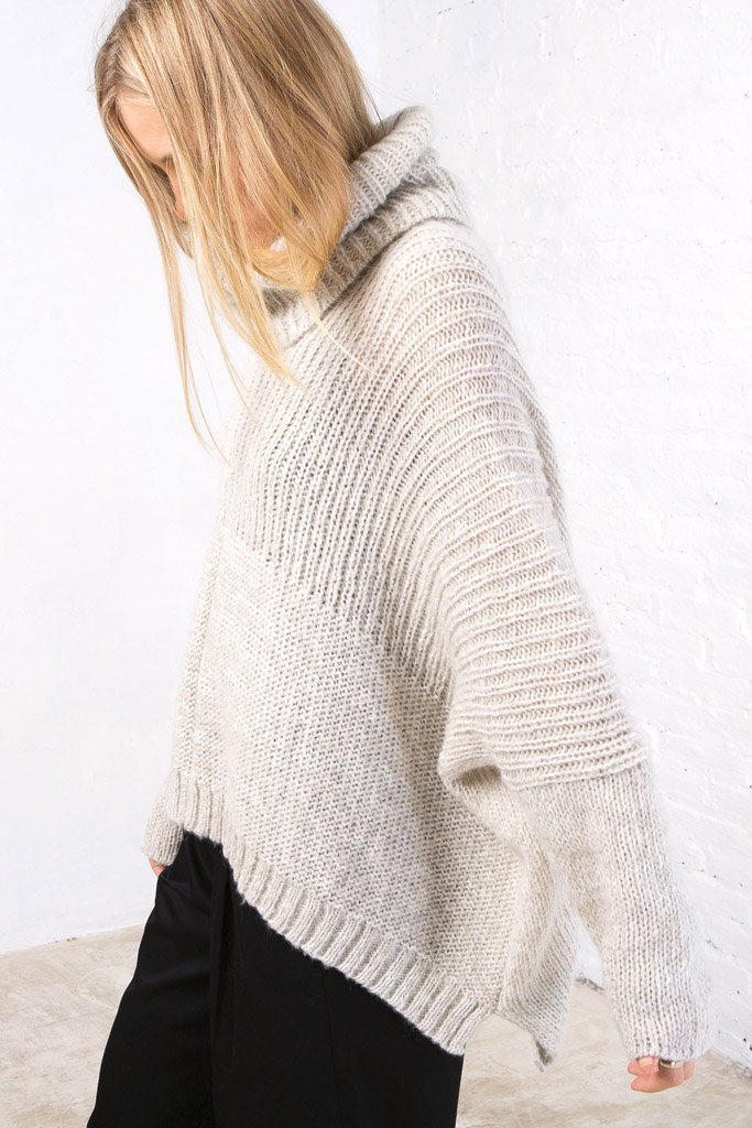 Women's Jaya T-neck Sweater's | Wooden Ships Knits