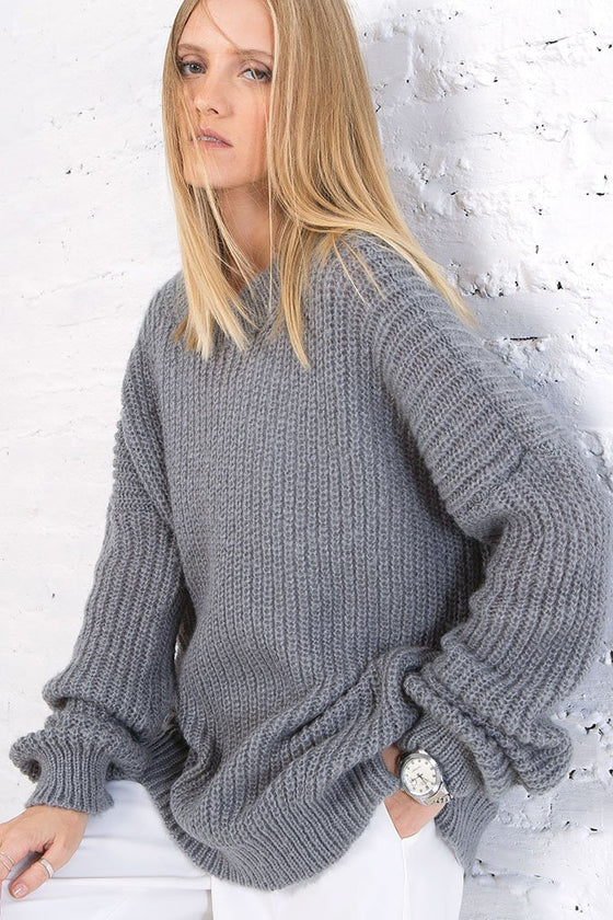 Women's Oversized Rib Boyfriend Sweater | Wooden Ships Knits