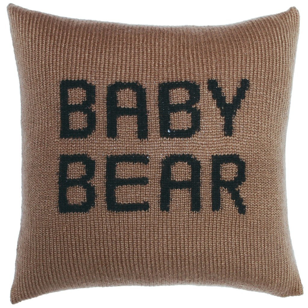 Baby Bear Knit Pillow Cover 18"