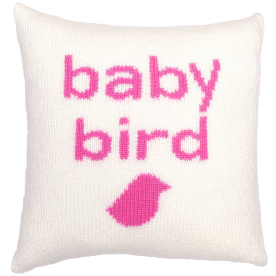 Baby Bird Knit Pillow Cover 18"