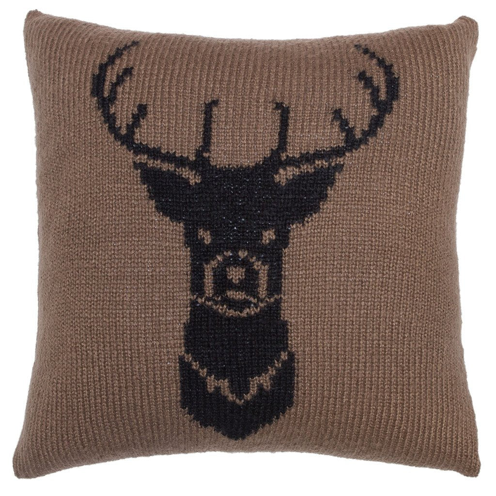 Buck Knit Pillow Cover 18"