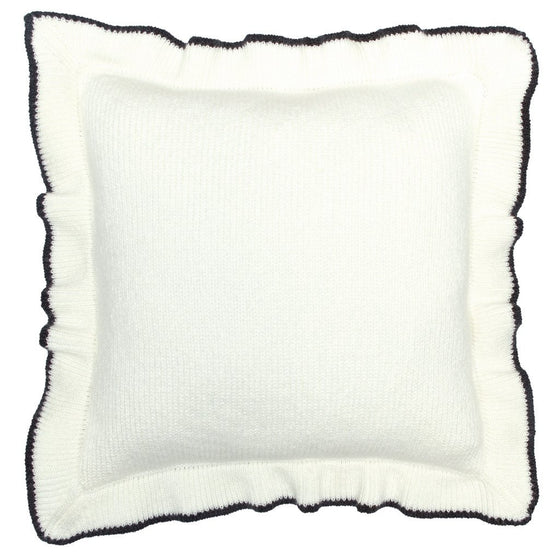 Ruffle Tip Knit Pillow Cover 16"