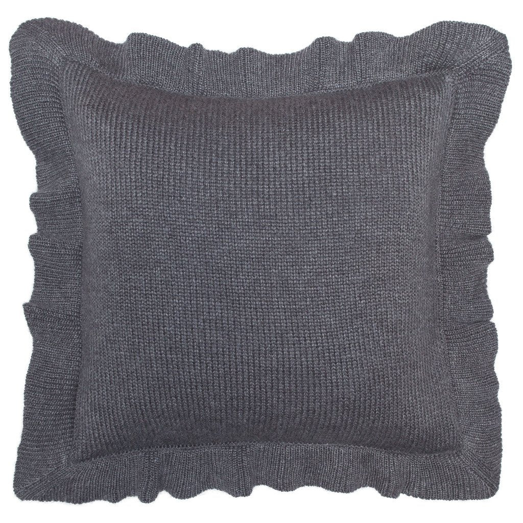 Ruffle Knit Pillow Cover 16"