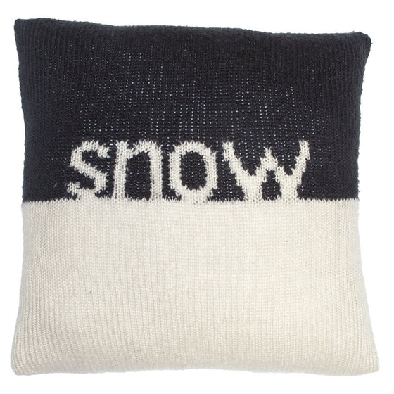 Snow Knit Pillow Cover 18"