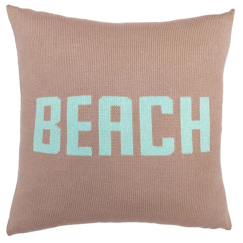 Beach Pillow Cover Cotton 18"