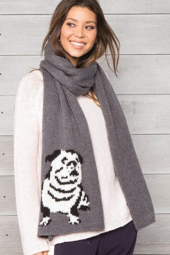 Women's Bulldog Wrap Scarf | Wooden Ships Knits