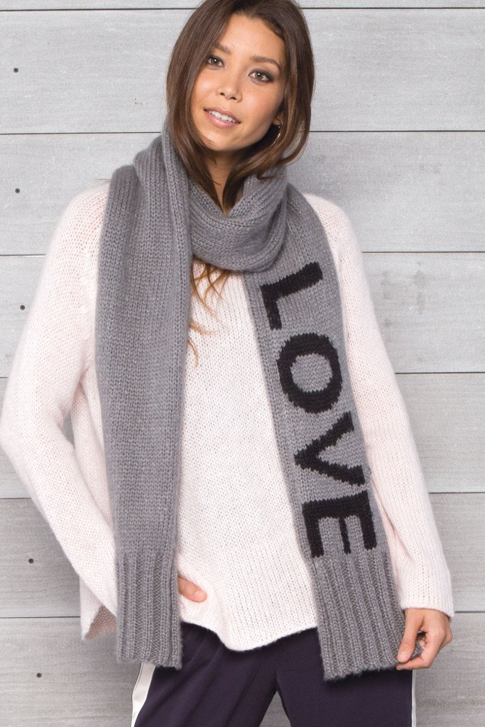 Women's Love (Caps) Wrap Scarf | Wooden Ships Knits