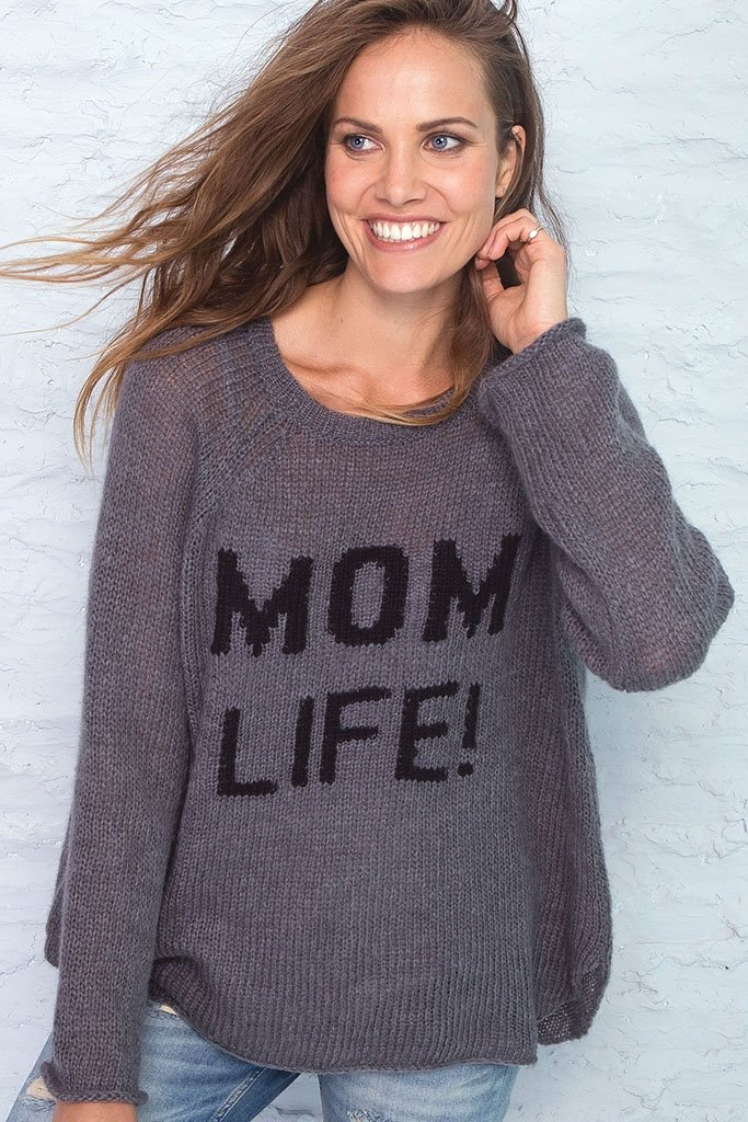 Women's Mom Life Crewneck Pullover Sweater | Wooden Ships Knits