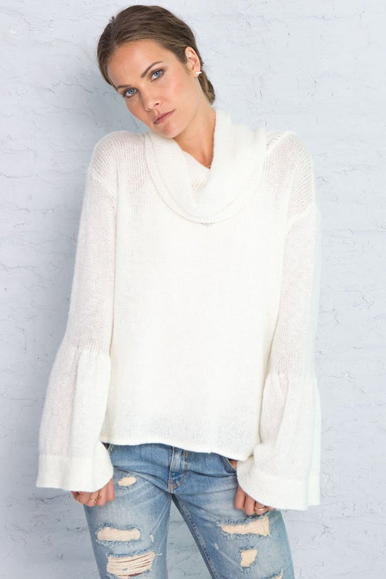Women's Vanessa Cowl Lightweight Sweater | Wooden Ships Knits