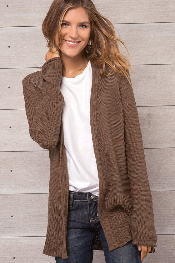 Women's Eryn Cardigan Cotton Sweater's | Wooden Ships Knits